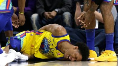 Photo of Patrick McCaw sale del hospital tras escalofriante caída