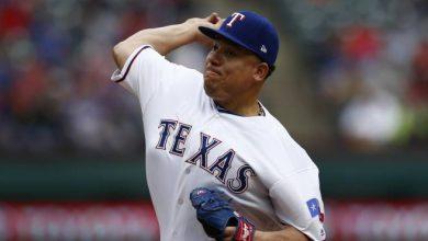 Photo of Bartolo Colón mostró sus reflejos sobre la loma en juego Texas/Angelinos