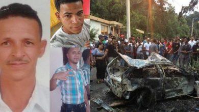 Photo of Carro arrolla varios motoristas en Santiago; hay dos muertos y un herido