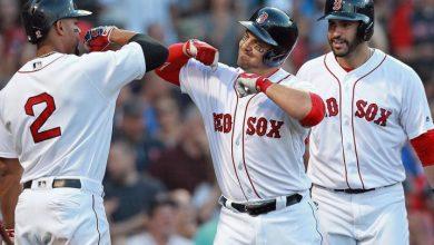 Photo of Steve Pearce suena tres jonrones y Boston aplasta a los Yankees