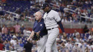 Photo of Chapman se une a Sánchez, Judge y Gregorius y en la lista de lesionados de los Yankees