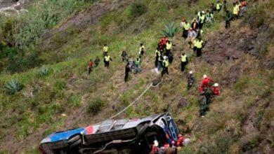 Photo of Autobús cae a un abismo en Ecuador y deja doce muertos