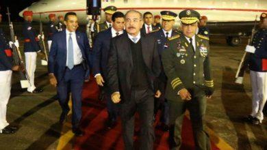 Photo of Presidente Danilo Medina llega al país luego de visita oficial a China