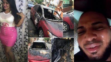 Photo of Después de encañonar y quemar el carro de su expareja, ahora graba video llorando y pidiendo cacao
