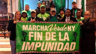 Photo of Marcha Verde y grupo nacionalista Antigua Orden Dominicana chocan en NY