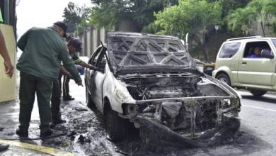 Photo of Carro se incendia frente al puerto de Sans Souci