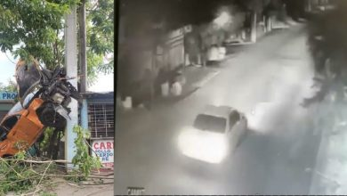 Photo of Video muestra como este carro llegó ahí