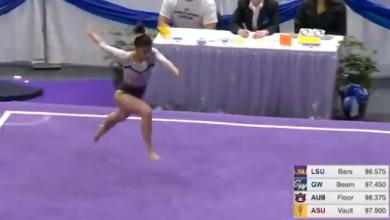 Photo of Terrible lesión de una gimnasta: se rompe las dos piernas al caer