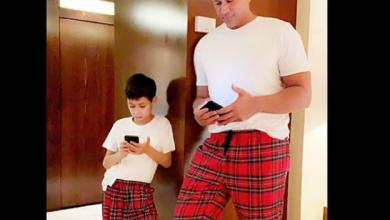 Photo of Alex Rodríguez y Max derriten las redes con la misma ropa y misma pose