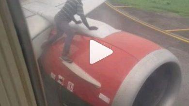 Photo of Mira lo que hizo este hombre en un avión a punto de despegar supuestamente para viajar gratis
