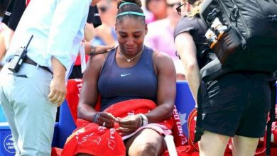 Photo of Serena Williams rompe a llorar tras abandonar la final de la Copa Rogers debido a una lesión
