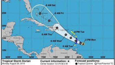 Photo of Dorian tocaría territorio dominicano como huracán categoría uno el jueves