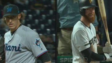 Photo of Brian Moran poncha a su hermano y Marlins ganan