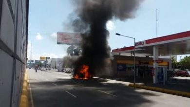 Photo of Se incendia ambulancia en avenida John F. Kennedy