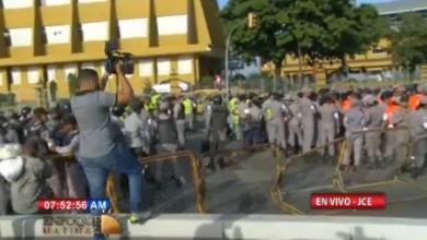 Photo of Amplio dispositivo de seguridad en inmediaciones JCE ante llamado a protesta por leonelístas