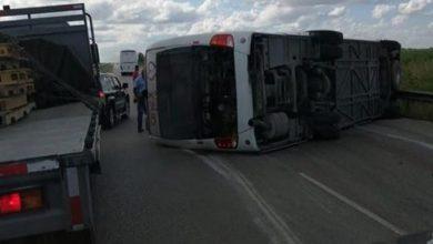 Photo of Al menos 70 turistas iban en autobús accidentado en Higüey; unidades aéreas y terrestres ofrecen asistencia
