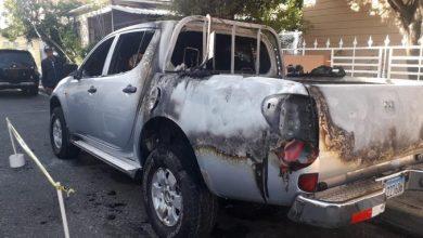 Photo of Incendian camioneta de candidato a senador del PLD por San José de Ocoa