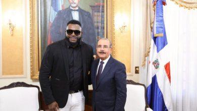 Photo of Danilo Medina recibe a David Ortiz en el Palacio Nacional
