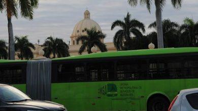 Photo of Tránsito afectado por decenas de autobuses de la OMSA colocados en alrededores del Palacio