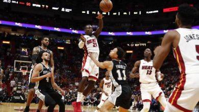 Photo of El Heat llegó a 18 triunfos en casa al superar a Spurs