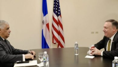Photo of Canciller Miguel Vargas trata con Pompeo temas regionales