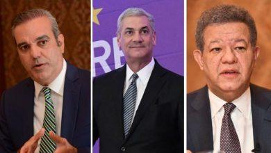 Photo of Luis Abinader ganaría con el 52%, seguido de Gonzalo Castillo, con el 24%, y Leonel Fernández con el 17%