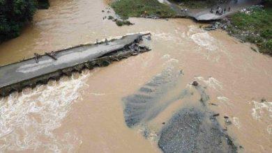 Photo of Aguaceros destruyen puente El Badén en La Vega y afectan viviendas en Santiago