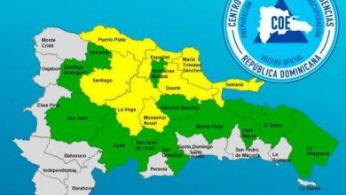 Photo of Ocho provincias en alerta amarilla y otras 12 en verde por posibles inundaciones
