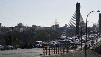 Photo of Bloquean el paso desde Santo Domingo Este hacia el Distrito Nacional por el puente Juan Bosch