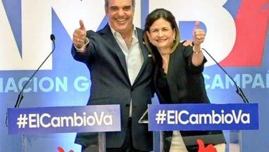 Photo of Sergia Elena de Séliman y Raquel Peña, vices de Leonel y Abinader
