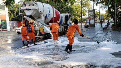 Photo of MOPC, Empresas Constructoras y Hormigoneras realizan jornada de limpieza en áreas públicas