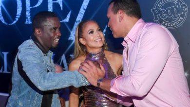 Photo of JLo baila merengue y bebe Presidente con su ex Puff Daddy y Alex Rodríguez