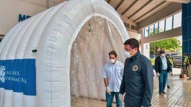 Photo of Alcalde DN instala primeros túneles sanitizantes para combatir COVID-19