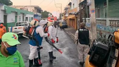 Photo of Operativo de desinfección en mercado Barahona; plaza comercial solo operará de lunes a jueves