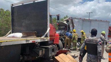 Photo of Cuatro muertos en accidente entre dos vehículos pesados en Azua