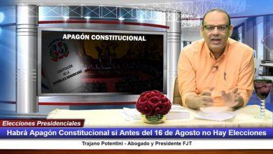 Photo of FJT advierte sobre Apagón Constitucional sino se celebran elecciones antes del 16 de agosto