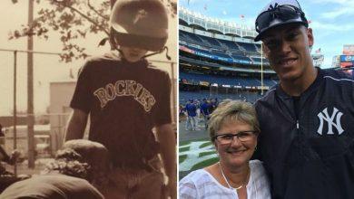 Photo of Aaron Judge agradecido por el apoyo de su madre