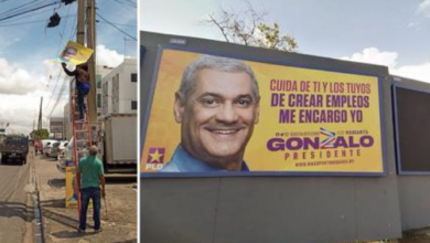 Photo of Gonzalo Castillo manda a retirar propaganda política para «el embellecimiento del país»