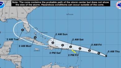 Photo of Se forma la depresión tropical número 13 en el Atlántico central