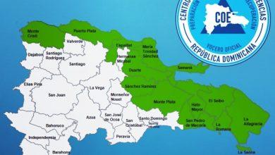 Photo of COE emite alerta para 13 provincias ante paso tormenta tropical Laura