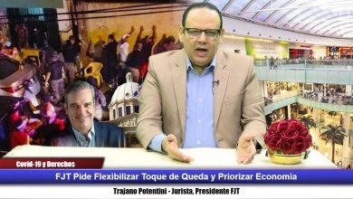 Photo of FJT pide flexibilizar toque de queda y priorizar economía