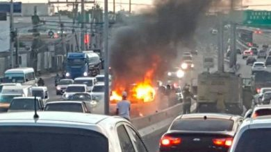 Photo of Tanque de GLP arde en la John F. Kennedy a la hora pico
