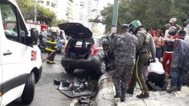 Photo of Digesett: Accidente ocurrido en la Anacaona fue una colisión frontal entre dos vehículos