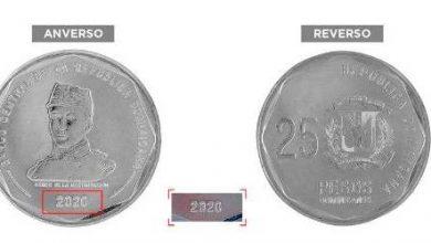 Photo of Banco Central pone en circulación moneda de 25 pesos del año 2020