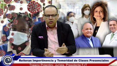 Photo of FJT reitera impertinencia y temeridad de clases presenciales