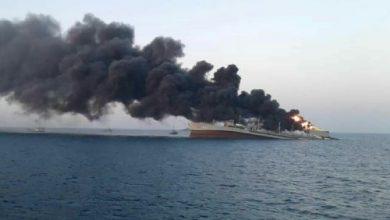 Photo of Se incendia y se hunde el barco más grande de la Armada de Irán en el golfo de Omán